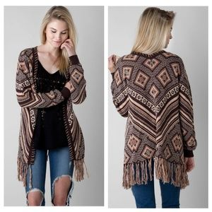 BKE Gimmicks Southwestern Cardigan Sweater Small